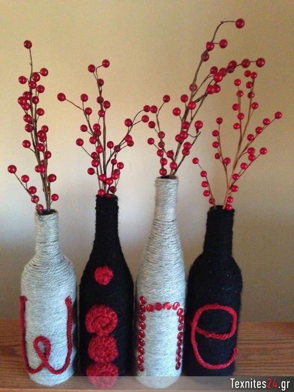 wine bottle γυάλινα μπουκαλια diy texnites 24 (38)